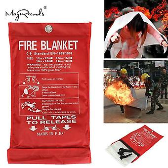 Free Shipping 1mx1m Fire Blanket Emergency Survival Fire Shelter Safety