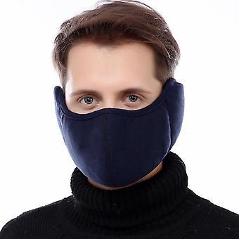 Earmuffs d'équitation extérieurs hiver plus velours Unisex Earmuff Bouche Cover Femmes Hommes