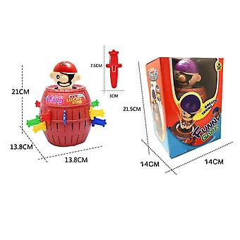 Pirate Bucket Barrel Games,lucky Stab Pop Up Toys,great Size For Travel Party Gathering