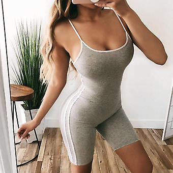 Women's Sports Jumpsuit Tank Top Sleeveless Workout Gym Fitness Leggings Pantalon