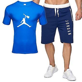 Men Outfits Jordan 23 T-shirt Shorts Summer Set Tracksuit