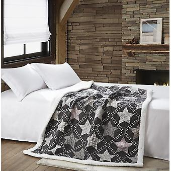 Spura Home Indian Polyester Mountain Stars Gewatteerde Sherpa Throw
