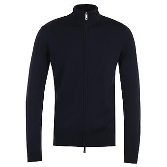 Emporio Armani Logo Navy Zip Sweater