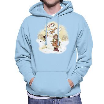 Holly Hobbie Christmas Snowman Men's Hooded Sweatshirt