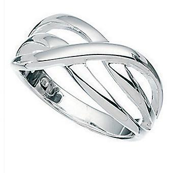 Éléments Sterling Silver Ladies Crossover Small Ring