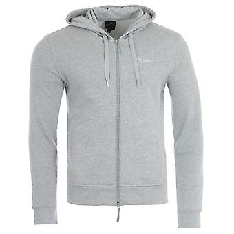 Armani Exchange Zip-Through Hooded Sweatshirt - Grey