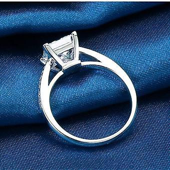 مجوهرات الاسترليني خواتم الفضة، تصميم بسيط، مربع الزفاف الزفاف الخطوبة