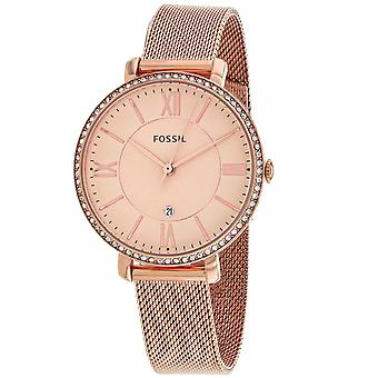 Fossil Women's Jacqueline Rose gold Dial Watch - ES4628