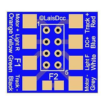 10ks Dcc 8 Pin Nem652 zásuvka s pájecími kartami