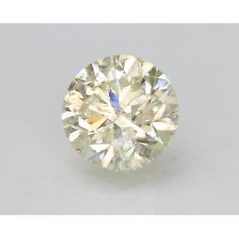 Certified 1.61 Carat K SI1 Round Brilliant Enhanced Natural Loose Diamond 7.26mm
