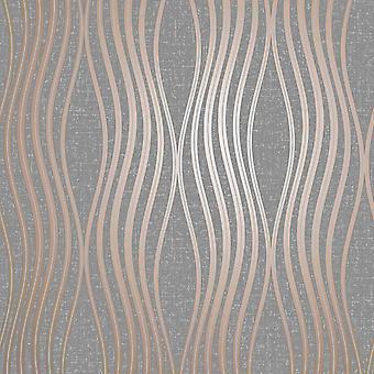 Cuarzo Wave Wallpaper Cobre Fino Decoración FD42568