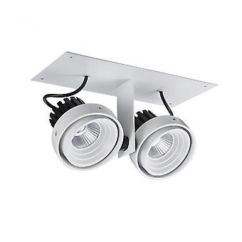 Patrizio Double 3000k Lámpara Empotrable De Techo Técnica Y Moderna Blanco Negro