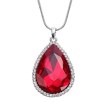 TJC Halo Ketting voor Vrouwen 24 & apos;> apos;, One ed Glass Anniversary Gift Crystal 0.002ct
