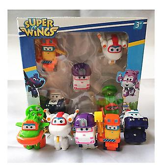 Super Wings Mini Deformation Airplane Robot Abs Action Figure