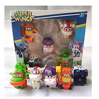 Super Wings Mini Verformung Flugzeug Roboter Abs Action-Figur
