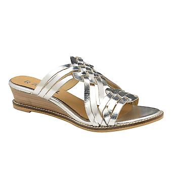 Ravel Marion Läder Mule Wedge Sandaler för Kvinnor - Silver