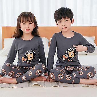Children Pajamas, Totoro Cotton Clothes, Pants Set, Cartoon Sleepwear,,