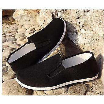 Top Quality Black Cotton Shoes Bruce Lee Vintage Chinese Kung Fu Shoes Wing