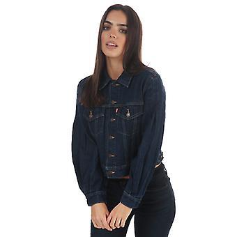 Women's Levis Full Sleeve Trucker Jacket in Blue