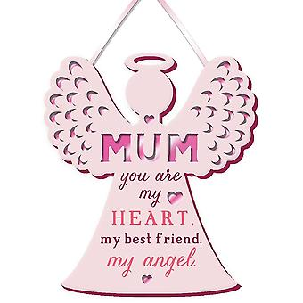 WPL More Than Words Mum My Angel Small Hanging Plaque