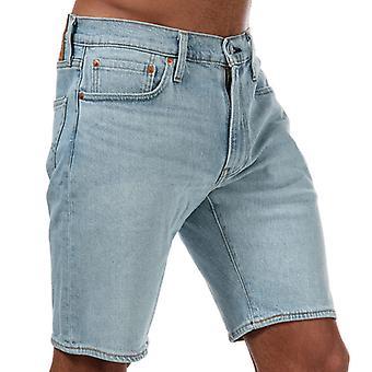 Men's Levis 502 Toast Verjüngte Shorts in blau