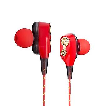 To bevegelige spoler i øret øretelefoner