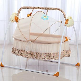Vauvan auto swing-vuode, sähköinen vastasyntynyt kehto nukkuva rokkari, keinutuoli