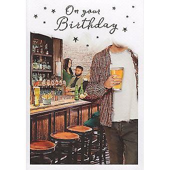 ICG Ltd Open Birthday Card - Essence Pub Bar