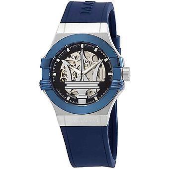 Maserati R8821108035 Men's Blue Strap Potenza Automatic Wristwatch
