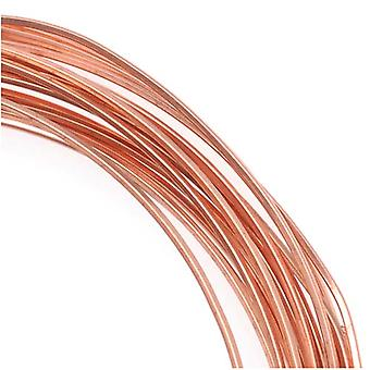 The Beadsmith Non-Tarnish Copper Square Craft Bead Wire 21Ga (21Ft)