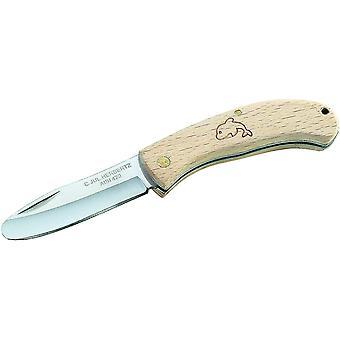 FengChun Kinder Taschenmesser - Stahl AISI 420 - Slipjoint - abgerundete Klinge - Buchenholz