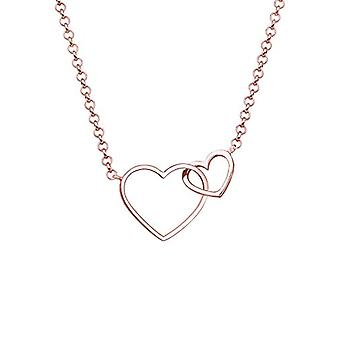 Elli Women's necklace, with heart, in sterling silver 925, gold plated(1)