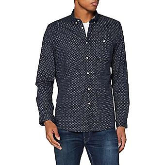 Tom Tailor Allover Print Stretch T-Shirt, 23977/Navy Twisted Element, M Man