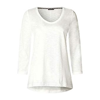 Street One 313909 T-Shirt, White (off White 10108), 44 (Size Manufacturer: 38) Woman