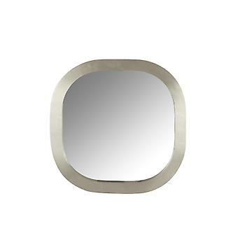 J-Line Mirror Square abgerundetes Holz Silber