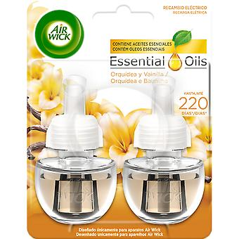 Air Wick Orchid and Vanilla Electric Air Freshener 2 refills