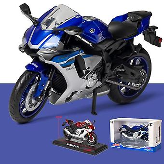 1:12 Motorcycle  Toy  Motorcycle Racing Car Models Cars Toys For Children Collectible(Blue)