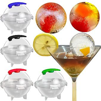 4 PCS Big Size 6cm Ball Ice Molds Sphere Round Ball Ice Cube Makers Home and Bar Party Kitchen Whiskey Cocktail DIY Ice Cream Moulds