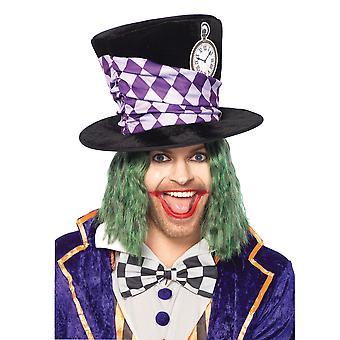 Túlméretezett Mad Hatter Deluxe Alice Csodaországban Könyvhét Férfi Jelmez Top Hat