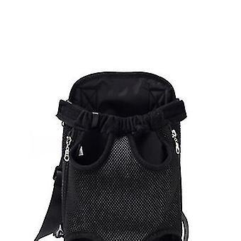 Xl 41 * 25cm negru în aer liber sac portabil pentru animale de companie, rucsac plasă respirabil pentru pisici și câini az7776