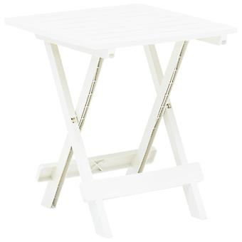 Gartentisch Faltbar 45X43X50 Cm Kunststoff Weiß