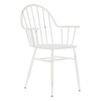 Krzesło ogrodowe DKD Home Decor White Metal (55 x 53,5 x 86 cm)