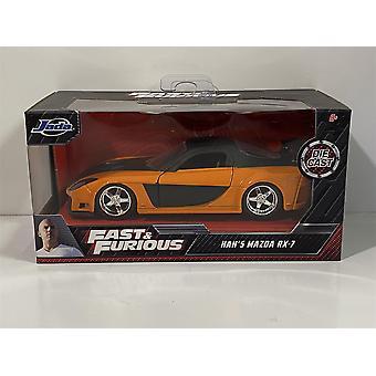 Nopea ja raivoisa Hans Mazda RX7 1993 Oranssi Musta 1:32 Asteikko Jada 30736