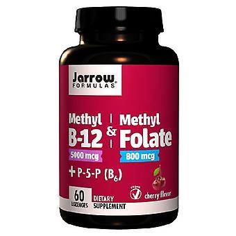 Jarrow Formler Methyl B-12 & Methyl Folat, Kirsebær 60 Sugetabletter