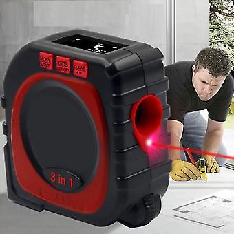 Met roller mode laser digitale meetlint professionele tool 3-in-1 high-precision meetlint LED
