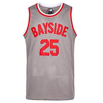 Morris #25 Bayside Basketball Jersey S-xxxl Grey, 90s Hip Hop Clothing For Party, Stitched Letters And Numbers