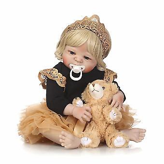 55Cm full body silicone reborn baby doll girl newbron lifelike baby-reborn princess doll best gift for girl best accompany