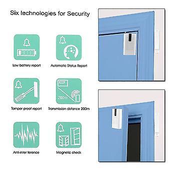Draagbare compacte mini draadloze deur detector alarm voor thuisbeveiliging noodsituatie