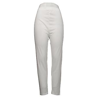 Anthony Richards Women's Plus Pants Stretch Knit White