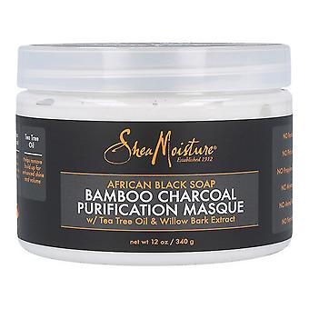 قناع الشعر الأفريقي الأسود الصابون الخيزران الفحم شيا الرطوبة (340 غرام)
